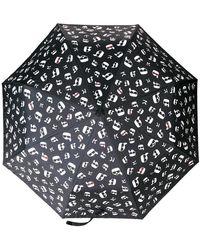 Karl Lagerfeld - Ikonik Print Umbrella - Lyst