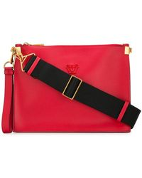 79fa2401eadd Versace Medusa Icon Leather Shoulder Bag in Red - Lyst