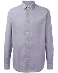 Xacus - Geometric Circle Print Shirt - Lyst