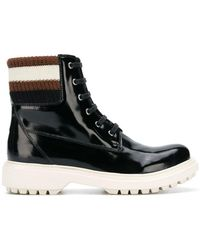 Geox - Varnished Lace-up Boots - Lyst