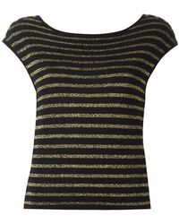 Saint Laurent - Striped Knitted Top - Lyst