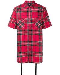 D.GNAK - Tartan Print Shirt - Lyst