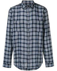 John Varvatos - Check Shirt - Lyst