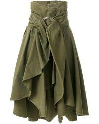 Faith Connexion - Asymmetric Ruffle Skirt - Lyst