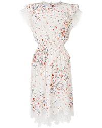 Ermanno Scervino - Floral Flared Dress - Lyst