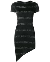 Philipp Plein - Jacquard Logo T-shirt Dress - Lyst