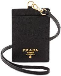 Prada - Badge Holder - Lyst