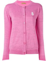 Peter Jensen - Embroidered Logo Cardigan - Lyst