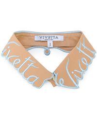 Vivetta - Embroidered Logo Collar - Lyst
