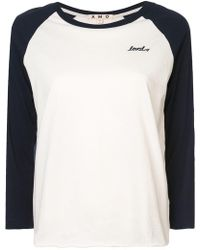 AMO - Raglan Sleeved T-shirt - Lyst