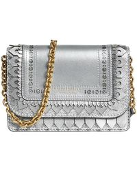 Burberry | Brogue Detail Chain Wallet | Lyst