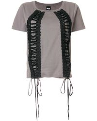 KTZ - Lace-up T-shirt - Lyst
