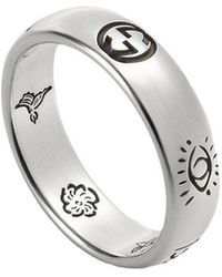 """Gucci - """"blind For Love"""" Ring In Silver - Lyst"""