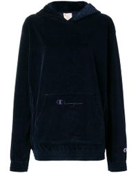 Champion - Velour Oversized Hoodie - Lyst