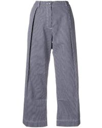 Peter Jensen - Regatta Stripe Pleated Trousers - Lyst
