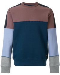 PS by Paul Smith - Colour Block Panelled Sweatshirt - Lyst