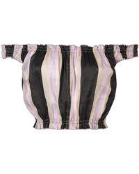 Apiece Apart - Off-shoulder Striped Crop Top - Lyst