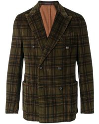 The Gigi - Double Breasted Check Blazer - Lyst