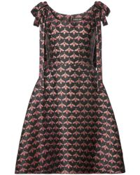 Christian Siriano - Shoulder Bow Bee Print A-line Dress - Lyst