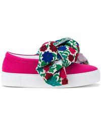 Joshua Sanders - Floral Bow Slip-on Sneakers - Lyst