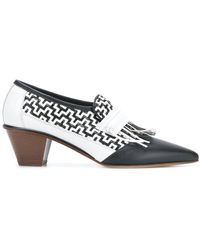 Ports 1961 - Weave Design Fringe Court Shoes - Lyst
