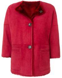 DESA NINETEENSEVENTYTWO - Furry Interior Button Up Coat - Lyst