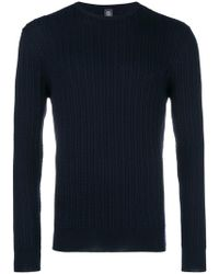 Eleventy - Crew Neck Knitted Sweater - Lyst
