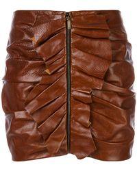 Saint Laurent - Ruffle Trim Mini Skirt - Lyst