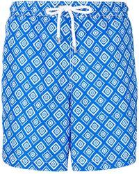 Kiton - Geometric Print Swim Shorts - Lyst