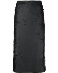 Fabiana Filippi - Embroidered Pencil Skirt - Lyst