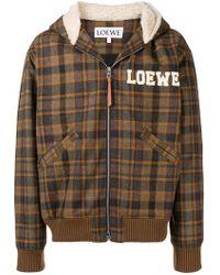 Loewe - Embroidered Tartan Bomber Jacket - Lyst