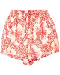 Onia Loose Fit Short Shorts - Red