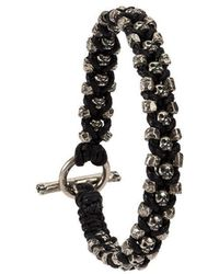 Tobias Wistisen - Criss Cross Skulls And Beads Bracelet - Lyst
