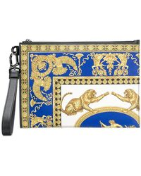 Versace - Signature Pillow Talk Print Clutch Bag - Lyst