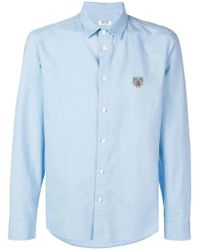KENZO - Tiger Embroidered Shirt - Lyst