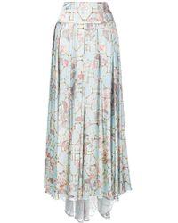 Adriana Iglesias - Geometric Pleated Skirt - Lyst