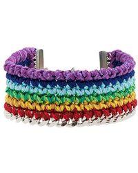 Venessa Arizaga - Silver Plated Rainbow Thread Bracelet - Lyst