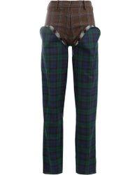Y. Project - Pantalones de vestir a cuadros - Lyst