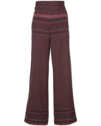 Cecilie Copenhagen - Patterned Palazzo Trousers - Lyst