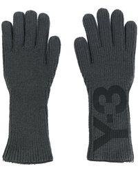 Y-3 - Logo Print Gloves - Lyst