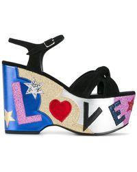 Saint Laurent | Candy 50 Love Sandals | Lyst