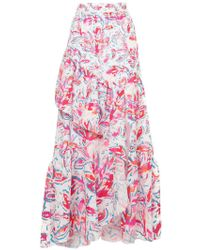 Peter Pilotto | Printed Waffle Long Skirt | Lyst