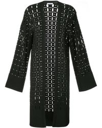 Versace - Pointelle-knit Cardigan - Lyst