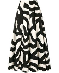 Junya Watanabe - Geometric Print Circle Skirt - Lyst