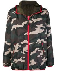 P.A.R.O.S.H. - Camouflage Print Hooded Jacket - Lyst
