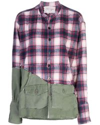 Greg Lauren - Check Panel Shirt - Lyst