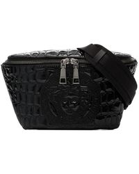 Versace - Black Patent Leather Crossbody Bag - Lyst
