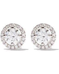 De Beers - 18kt White Gold Aura Stud Diamond Earrings - Lyst