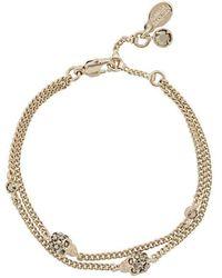 Alexander McQueen - Skulls Bracelet - Lyst