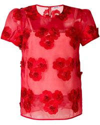 P.A.R.O.S.H. - Floral Embroidered Blouse - Lyst